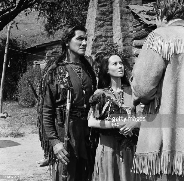 BOONE 'Doll of Sorrow' Episode 28 Aired 4/22/1964 Pictured Eddie Little Sky as Grey Eagle Adrienne Hayes as Rising Star Photo by Paul W Bailey/NBCU...
