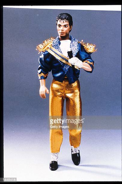 A doll of the entertainer Michael Jackson stands July 15 1984 in USA Jackson who was the lead singer for the Jackson Five by age eight reached the...