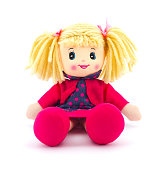 Doll on a white background