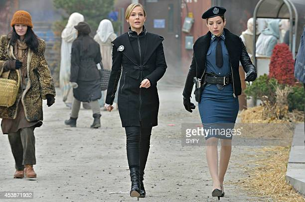 DEFIANCE Doll Parts Episode 211 Pictured Julie Benz as Amanda Rosewater Anna Hopkins as Jessica Berlin Rainer