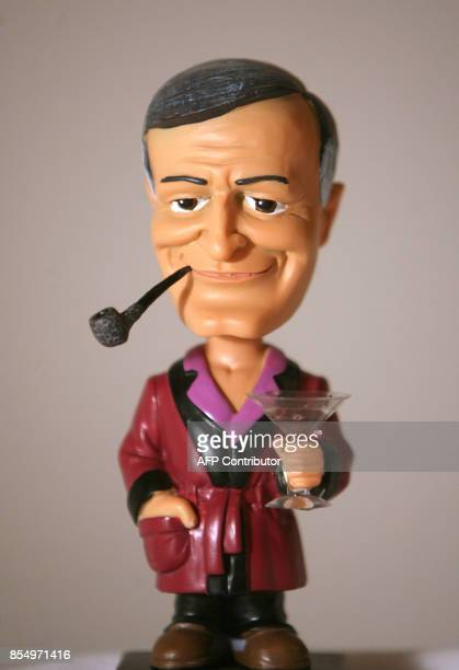 A doll representing US Playboy Magazine publisher Hugh Hefner is pictured 11 January 2007 at the Palyboy Mansion in Beverly Hills / AFP PHOTO /...