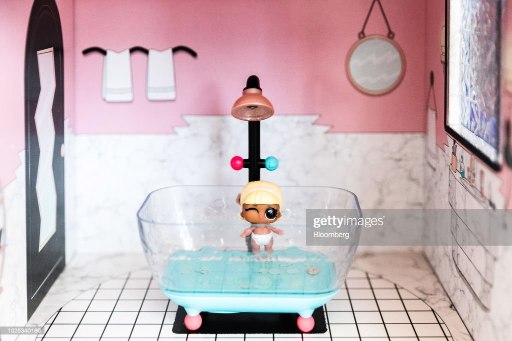 A Doll Sits Inside A L O L Surprise House Toy During A Walmart Inc