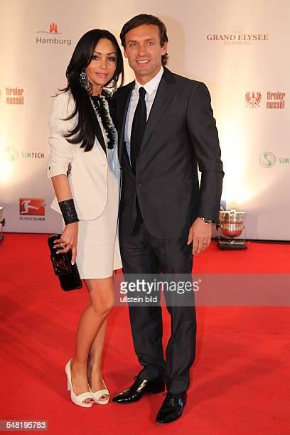 Doll Thomas Football Coach Germany with Wife Biljana during Herbert Award at HotelGrandElysee in Hamburg Germany