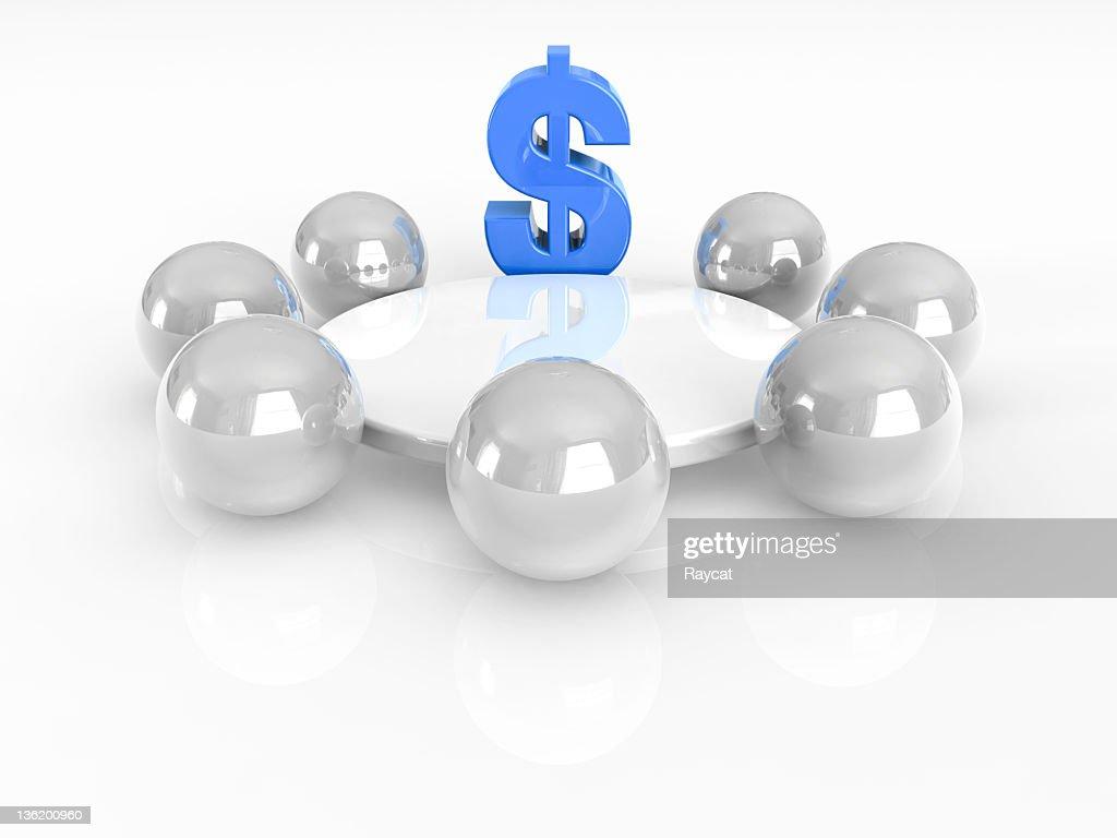 Dollar Voraus : Stock-Foto