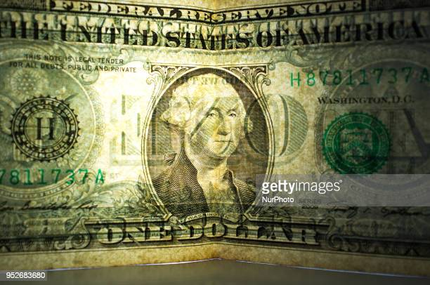 US dollar and British Pound bank notes and are photographed in London on April 29 2018 The US benchmark government bond yield broke through the...