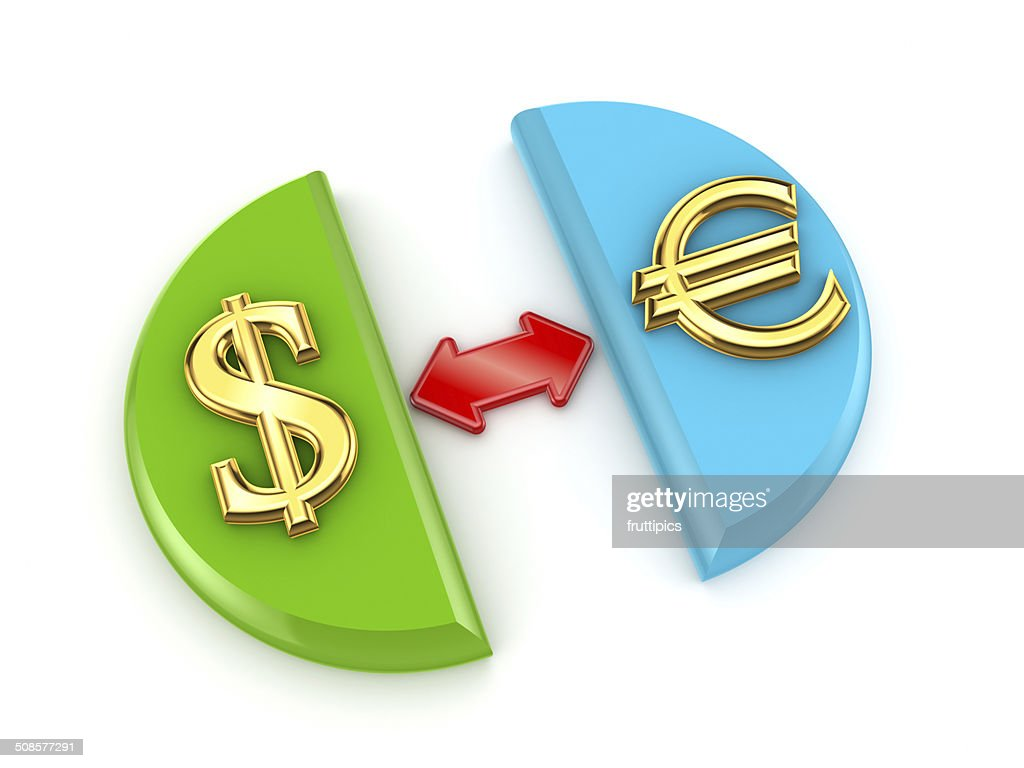 Dollar and euro signs. : Stock Photo