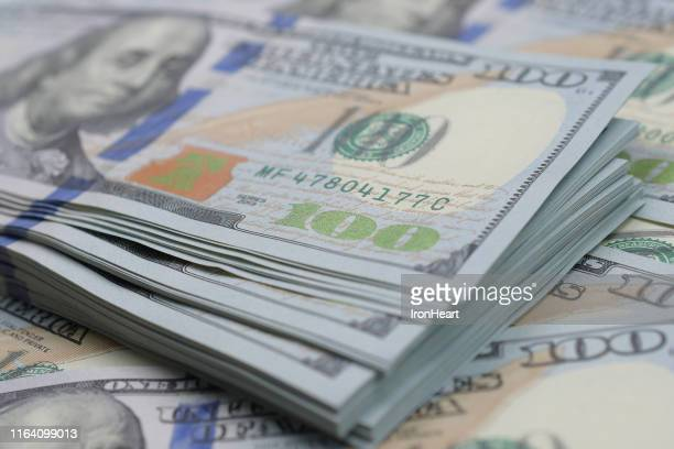 us dollar bank notes. - dollar sign stock pictures, royalty-free photos & images