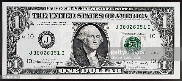 1 dollar banknote obverse George Washington United States of America 20th century