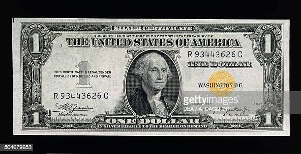 1 dollar banknote silver certificates issued for Sicily and Northern Africa obverse George Washington United States of America 20th century