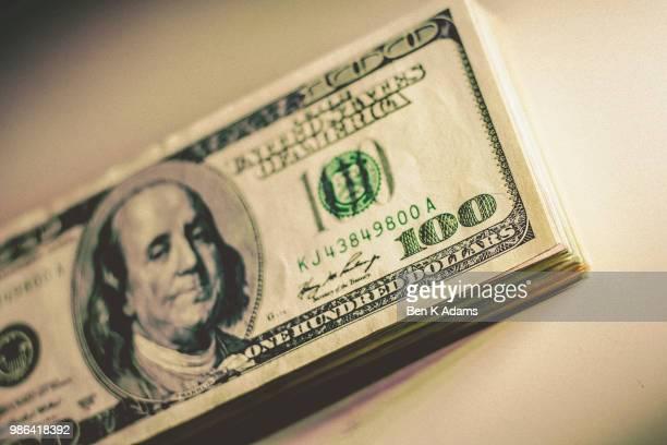 100 Dollar Bill Stack