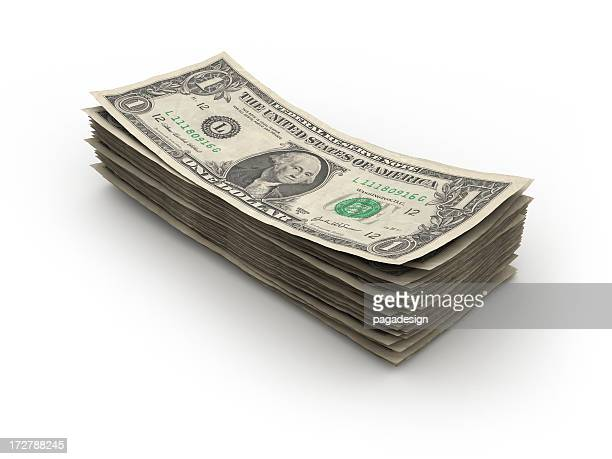 dollar bills - american one dollar bill stock pictures, royalty-free photos & images