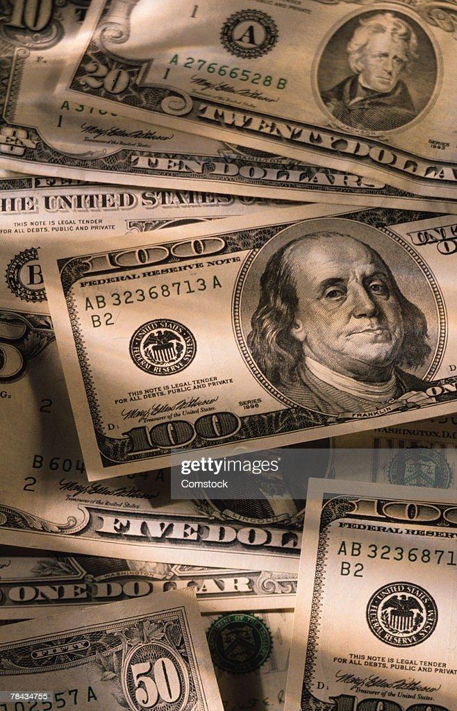 US dollar bills : Stock Photo