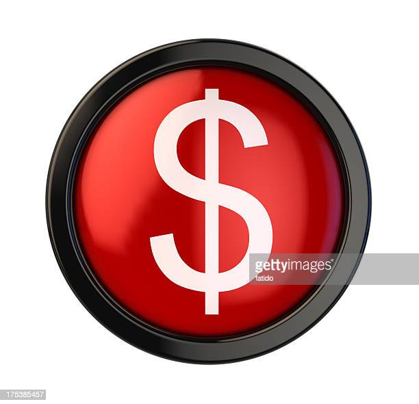 dollar button - dollar sign key stock photos and pictures