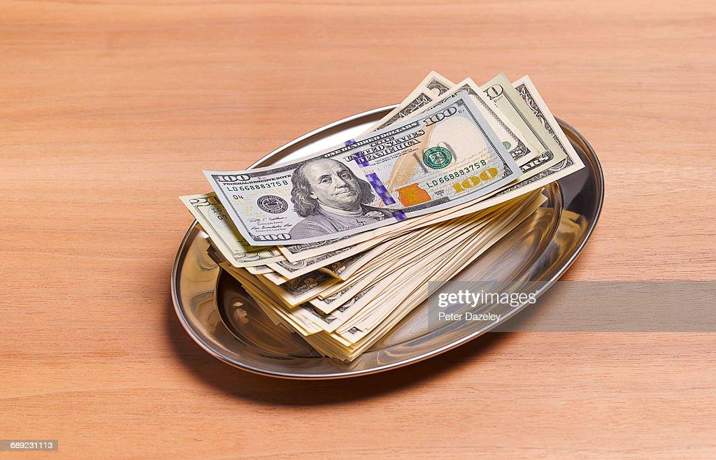 US Dollar cash payment : Stock Photo