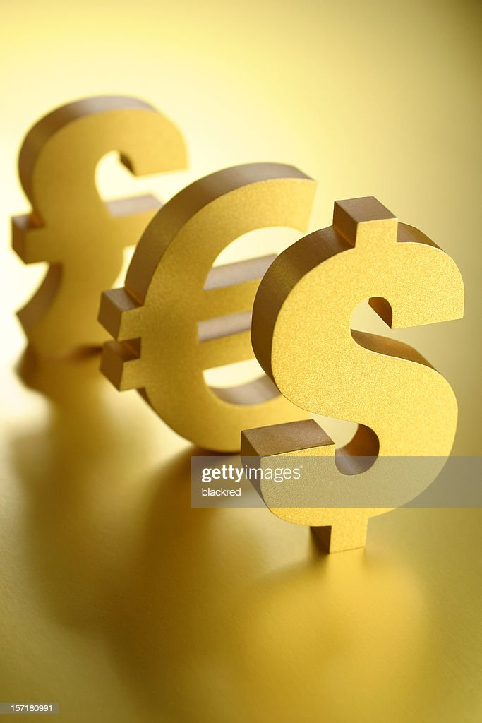 Dollar Euro And Pound Symbols Stock Photo Getty Images