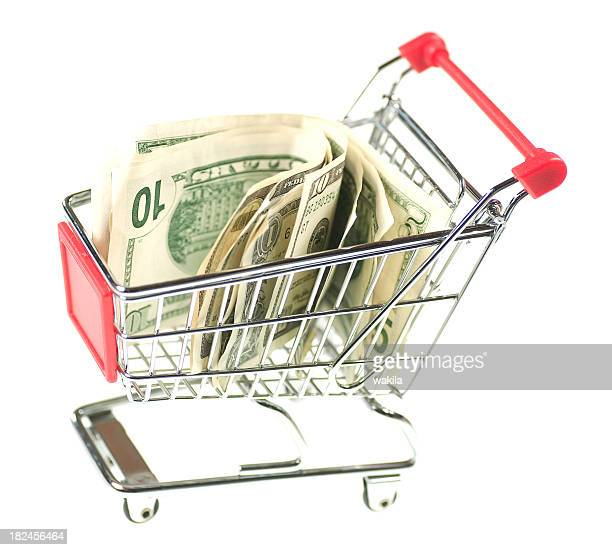 dollar in shopping cart