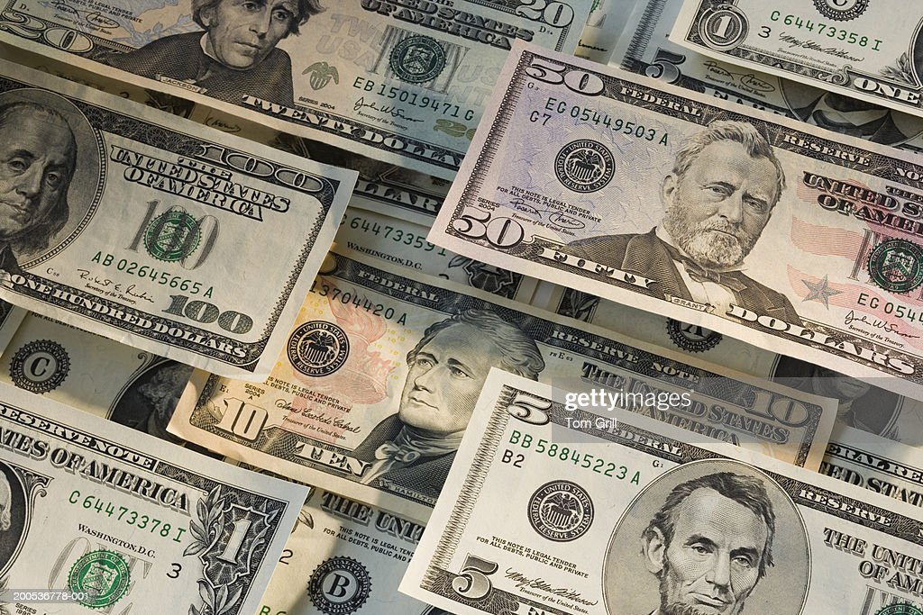 Us Dollar Notes Closeup Stock Photo - Getty Images