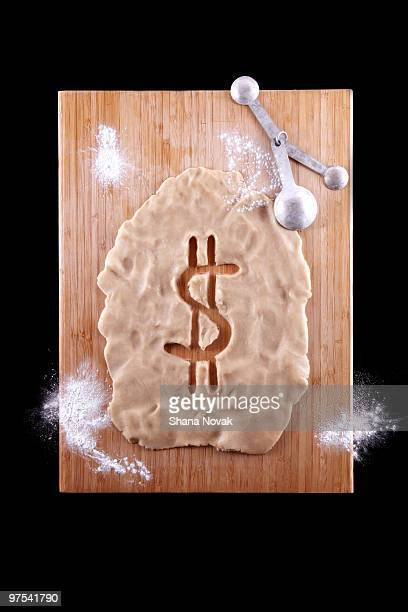 Dollar Sign Cut-Out of Dough