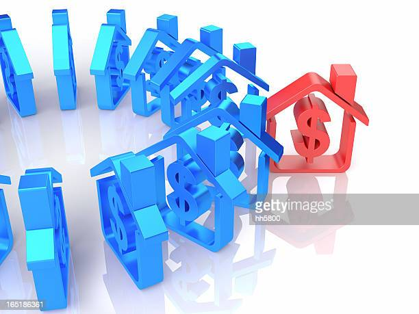 dollar sign house - event icon set stock photos and pictures