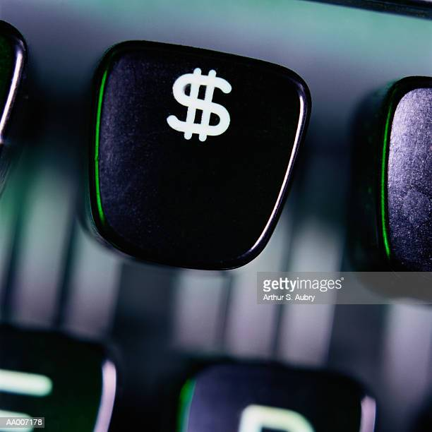 dollar sign on a typewriter key - dollar sign key stock photos and pictures