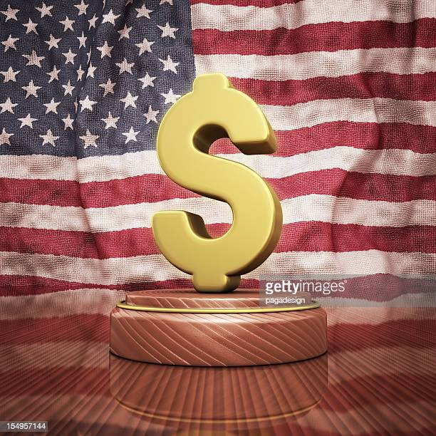 dollar sign on the usa flag - dollar sign key stock photos and pictures