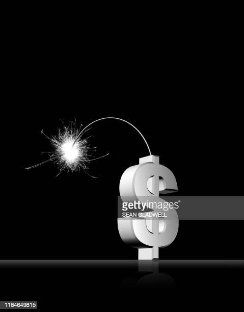 dollar symbol with lit fuse - recessed lighting stock pictures, royalty-free photos & images