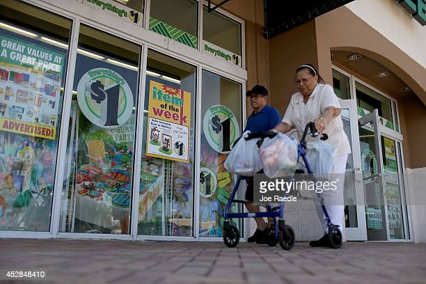 Dollar Tree store is seen on July 28 2014 in Miami Florida Dollar Tree announced it will buy Family Dollar Stores for about $85 billion in cash and...