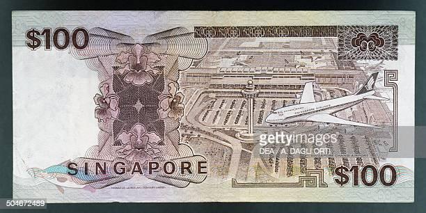 Dollars banknote, 1980-1989, reverse. Singapore, 20th century.