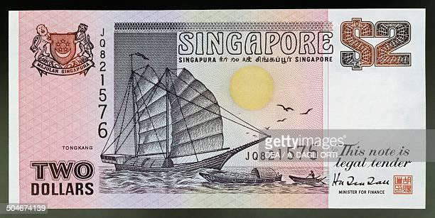 Dollars banknote, 1990-1999, obverse, Junk . Singapore, 20th century.