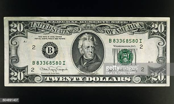 20 dollars banknote obverse Andrew Jackson United States of America 20th century