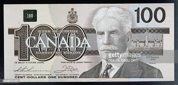 100 Dollars Banknote Obverse Robert Laird Borden Canada 20th Century