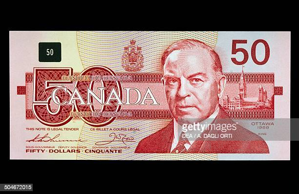 50 dollars banknote obverse William Lyon Mackenzie King Canada 20th century