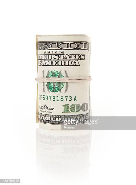 Dollar isolé sur fond blanc accessible en fauteuil roulant