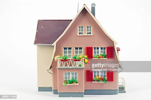 Dollhouse On White Background
