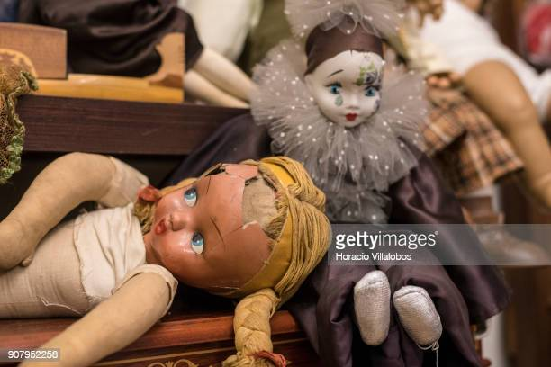 Dolls in need of repair seen at 'Hospital de Bonecas' on January 18 2018 in Lisbon Portugal Started in 1830 by Dona Carlota an old lady making rag...