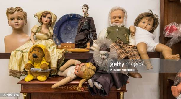 Dolls seen at 'Hospital de Bonecas' on January 18 2018 in Lisbon Portugal Started in 1830 by Dona Carlota an old lady making rag dolls in her small...