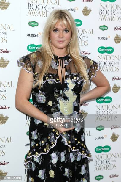 Dolly Alderton author of 'Everything I Know About Love' with the award for Autobiography / Biography of the Year at the National Book Awards at RIBA...