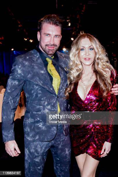 Dolly Buster and her boyfriend Mike during the Goldene Sonne Award 2019 on April 27 2019 in Kalkar Germany