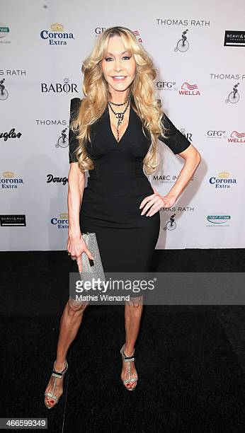 Dolly Buster attends the Thomas Rath fashion show during Platform Fashion Dusseldorf on February 2 2014 in Dusseldorf Germany