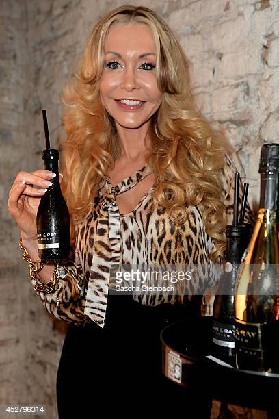 Dolly Buster poses prior to the Guido Maria Kretschmer Show at Platform Fashion Dusseldorf on July 27 2014 in Duesseldorf Germany