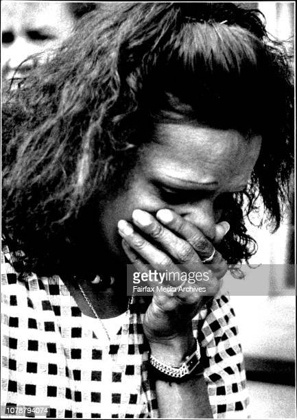 Dolly Eatts leaves the Sydney coroners court in tears today after a jury found an accidental death finding into the death of David GundyMs Dolly...