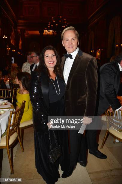 Dolly Fox and Jeffrey Bilhuber attend New York School Of Interior Design Annual Gala at The University Club on March 5 2019 in New York City