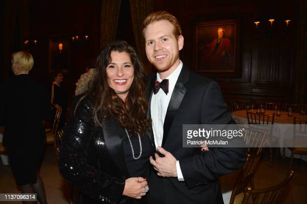 Dolly Fox and Levi Blasdel attend New York School Of Interior Design Annual Gala at The University Club on March 5, 2019 in New York City.