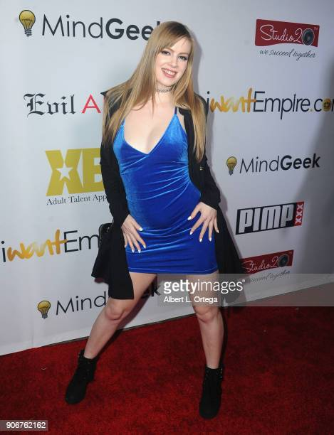 Dolly Leigh arrives for XBiz's RISE Performer Appreciation Event held at 1 Oak on November 15 2017 in West Hollywood California