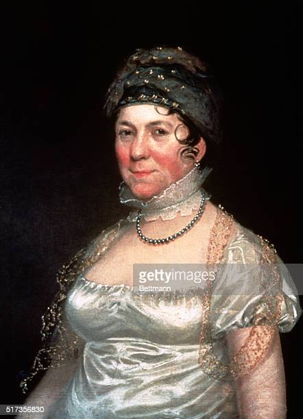 Dolly Madison American socialite and wife of the fourth US President James Madison Undated painting by R Peale