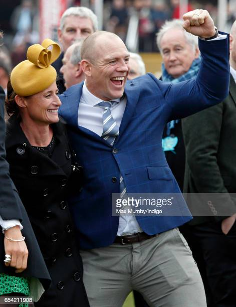Dolly Maude and Mike Tindall attend day 3 of the Cheltenham Festival at Cheltenham Racecourse on March 16 2017 in Cheltenham England