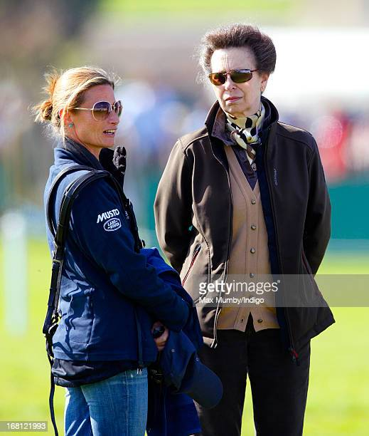 Dolly Maude and Princess Anne The Princess Royal attend day 4 of the Badminton Horse Trials on May 5 2013 in Badminton England