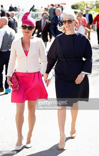 Dolly Maude and Zara Phillips attend day 3 'Grand National Day' of the Crabbie's Grand National Festival at Aintree Racecourse on April 11 2015 in...