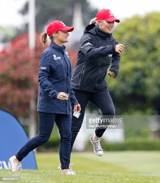 Dolly Maude and Zara Phillips attend the 5th edition of the 'ISPS Handa Mike Tindall Celebrity Golf Classic' at The Belfry on May 19 2017 in Sutton...