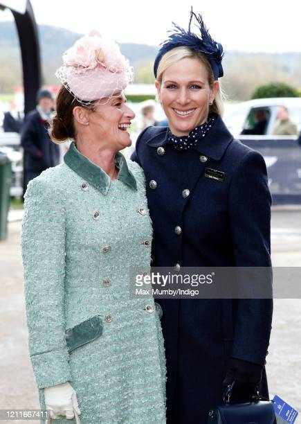 Dolly Maude and Zara Tindall attend day 1 'Champion Day' of the Cheltenham Festival 2020 at Cheltenham Racecourse on March 10 2020 in Cheltenham...
